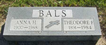 BALS, THEODORE F. - Sherman County, Nebraska | THEODORE F. BALS - Nebraska Gravestone Photos