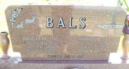 BALS, HAROLD J. - Sherman County, Nebraska | HAROLD J. BALS - Nebraska Gravestone Photos