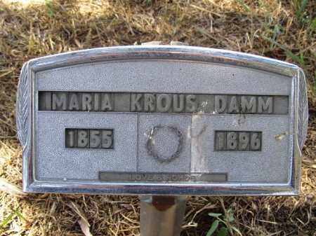 KROUS DAMM, MARIA - Sherman County, Nebraska | MARIA KROUS DAMM - Nebraska Gravestone Photos