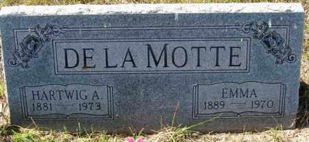 DE LA MOTTE, EMMA - Sherman County, Nebraska | EMMA DE LA MOTTE - Nebraska Gravestone Photos