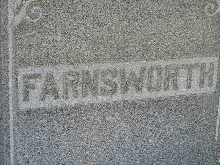 FARNSWORTH, REUBEN & MARY - Sherman County, Nebraska   REUBEN & MARY FARNSWORTH - Nebraska Gravestone Photos