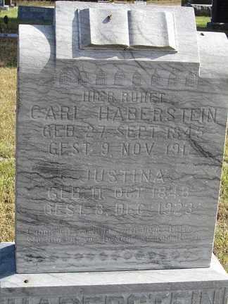 HABERSTEIN, JUSTINA - Sherman County, Nebraska | JUSTINA HABERSTEIN - Nebraska Gravestone Photos