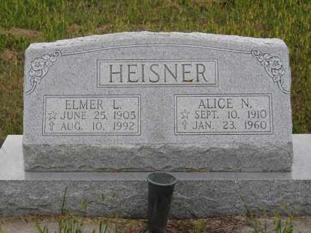 HEISNER, ELMER L. - Sherman County, Nebraska | ELMER L. HEISNER - Nebraska Gravestone Photos