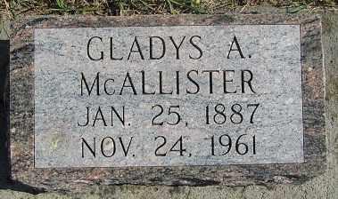 MCALLISTER, GLADYS A. - Sherman County, Nebraska | GLADYS A. MCALLISTER - Nebraska Gravestone Photos