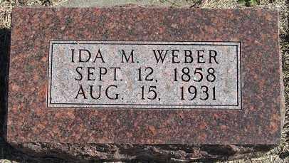 WEBER, IDA M. - Sherman County, Nebraska | IDA M. WEBER - Nebraska Gravestone Photos