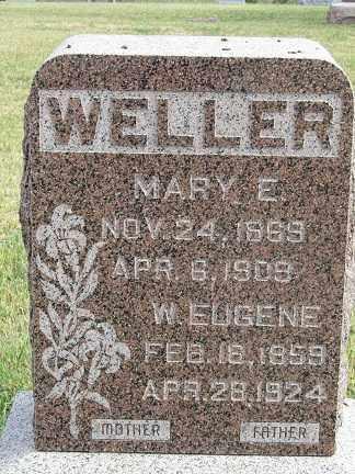 WELLER, MARY E. - Sherman County, Nebraska | MARY E. WELLER - Nebraska Gravestone Photos