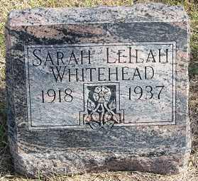 WHITEHEAD, SARAH LEILAH - Sherman County, Nebraska | SARAH LEILAH WHITEHEAD - Nebraska Gravestone Photos