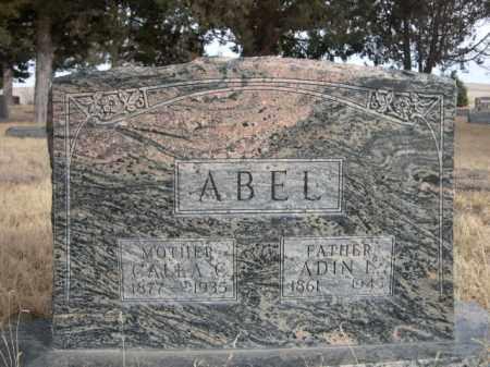 ABEL, ADIN L. - Sioux County, Nebraska   ADIN L. ABEL - Nebraska Gravestone Photos