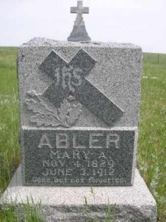 ABLER, MARY A. - Sioux County, Nebraska   MARY A. ABLER - Nebraska Gravestone Photos