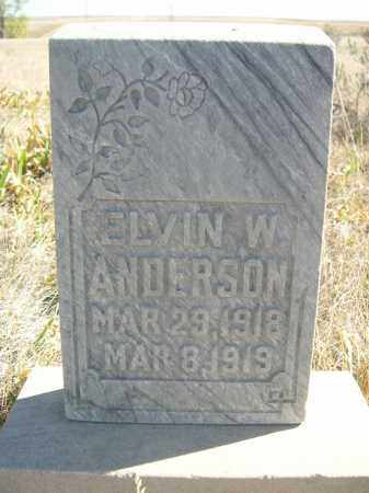 ANDERSON, ELVIN W. - Sioux County, Nebraska   ELVIN W. ANDERSON - Nebraska Gravestone Photos