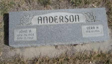 ANDERSON, VERA H. - Sioux County, Nebraska | VERA H. ANDERSON - Nebraska Gravestone Photos