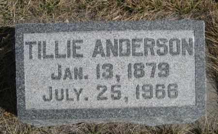 ANDERSON, TILLIE - Sioux County, Nebraska | TILLIE ANDERSON - Nebraska Gravestone Photos
