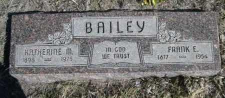 BAILEY, KATHERINE M. - Sioux County, Nebraska | KATHERINE M. BAILEY - Nebraska Gravestone Photos