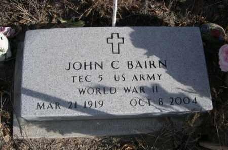 BAIRN, JOHN C. - Sioux County, Nebraska | JOHN C. BAIRN - Nebraska Gravestone Photos