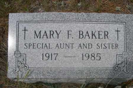 BAKER, MARY F. - Sioux County, Nebraska | MARY F. BAKER - Nebraska Gravestone Photos