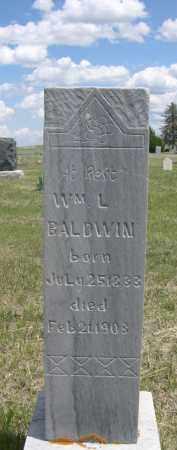 BALDWIN, WM. L. - Sioux County, Nebraska   WM. L. BALDWIN - Nebraska Gravestone Photos
