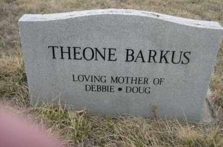 BARKUS, THEONE - Sioux County, Nebraska | THEONE BARKUS - Nebraska Gravestone Photos