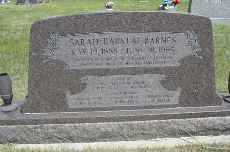 BARNES, SARAH - Sioux County, Nebraska   SARAH BARNES - Nebraska Gravestone Photos