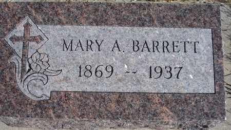 BARRETT, MARY A. - Sioux County, Nebraska   MARY A. BARRETT - Nebraska Gravestone Photos
