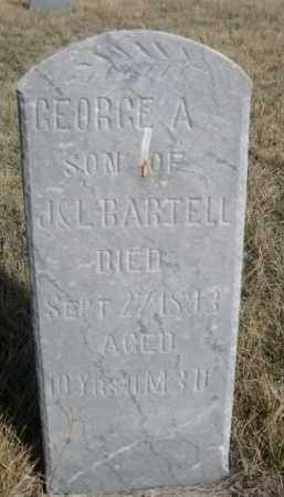 BARTELL, GEORGE A. - Sioux County, Nebraska | GEORGE A. BARTELL - Nebraska Gravestone Photos