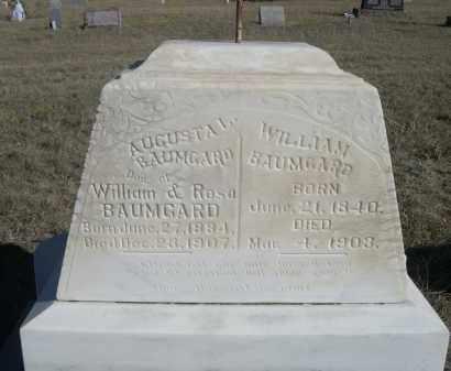 BAUMGARD, WILLIAM - Sioux County, Nebraska | WILLIAM BAUMGARD - Nebraska Gravestone Photos