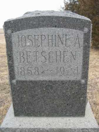 BETSCHEN, JOSEPHINE A. - Sioux County, Nebraska | JOSEPHINE A. BETSCHEN - Nebraska Gravestone Photos