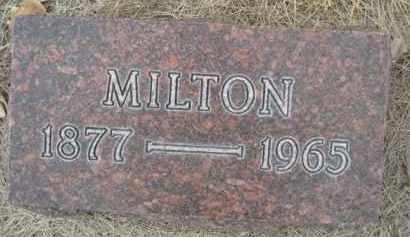 BIXLER, MILTON - Sioux County, Nebraska | MILTON BIXLER - Nebraska Gravestone Photos