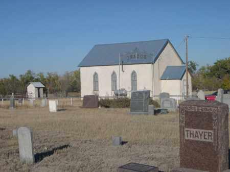 *BODARC CEMETERY, VIEW OF CHURCH - Sioux County, Nebraska | VIEW OF CHURCH *BODARC CEMETERY - Nebraska Gravestone Photos