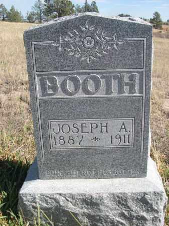BOOTH, JOSEPH A. - Sioux County, Nebraska   JOSEPH A. BOOTH - Nebraska Gravestone Photos