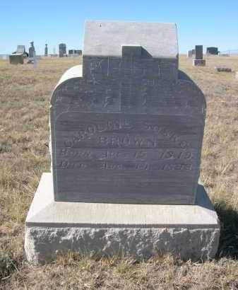 BROWN, CAROLINE - Sioux County, Nebraska | CAROLINE BROWN - Nebraska Gravestone Photos