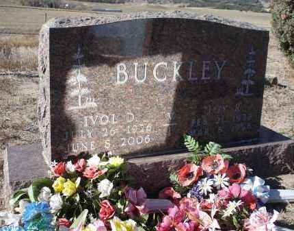 BUCKLEY, IVOL D. - Sioux County, Nebraska | IVOL D. BUCKLEY - Nebraska Gravestone Photos