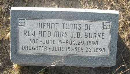 BURKE, TWIN SON REV. & MRS. J.B. - Sioux County, Nebraska   TWIN SON REV. & MRS. J.B. BURKE - Nebraska Gravestone Photos