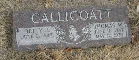 CALLICOATT, THOMAS W. - Sioux County, Nebraska | THOMAS W. CALLICOATT - Nebraska Gravestone Photos