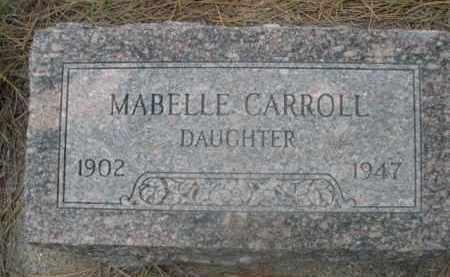 CARROLL, MABELLE - Sioux County, Nebraska | MABELLE CARROLL - Nebraska Gravestone Photos