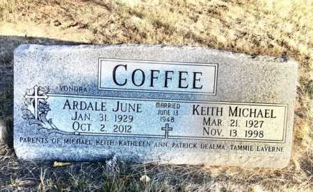 VONDRA (OR YONDRA) COFFEE, ARDALE JUNE - Sioux County, Nebraska | ARDALE JUNE VONDRA (OR YONDRA) COFFEE - Nebraska Gravestone Photos