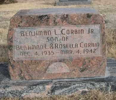 CORBIN, BENJIMAN L. JR. - Sioux County, Nebraska | BENJIMAN L. JR. CORBIN - Nebraska Gravestone Photos