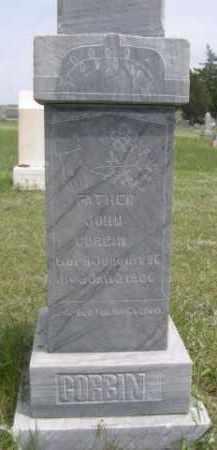 CORBIN, JOHN - Sioux County, Nebraska   JOHN CORBIN - Nebraska Gravestone Photos