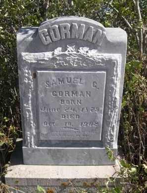 CORMAN, SAMUEL G. - Sioux County, Nebraska | SAMUEL G. CORMAN - Nebraska Gravestone Photos