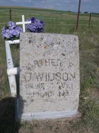 DAVIDSON, ARTHER F. - Sioux County, Nebraska | ARTHER F. DAVIDSON - Nebraska Gravestone Photos