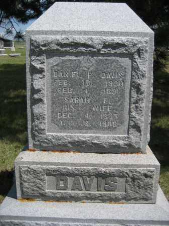 DAVIS, DANIEL P. - Sioux County, Nebraska | DANIEL P. DAVIS - Nebraska Gravestone Photos