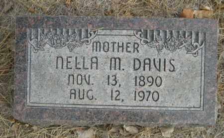 DAVIS, NELLA M. - Sioux County, Nebraska | NELLA M. DAVIS - Nebraska Gravestone Photos