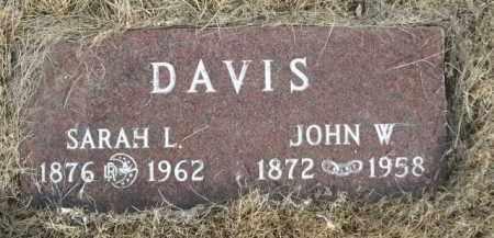 DAVIS, JOHN W. - Sioux County, Nebraska | JOHN W. DAVIS - Nebraska Gravestone Photos