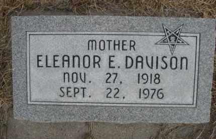 DAVISON, ELEANOR E. - Sioux County, Nebraska | ELEANOR E. DAVISON - Nebraska Gravestone Photos