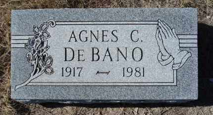 DE BANO, AGNES C. - Sioux County, Nebraska | AGNES C. DE BANO - Nebraska Gravestone Photos