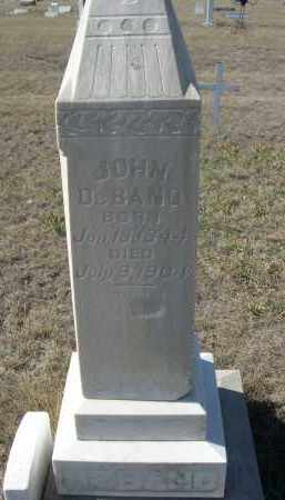 DE BANO, JOHN - Sioux County, Nebraska   JOHN DE BANO - Nebraska Gravestone Photos