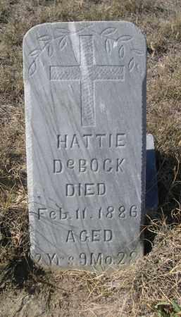 DE BOCK, HATTIE - Sioux County, Nebraska | HATTIE DE BOCK - Nebraska Gravestone Photos