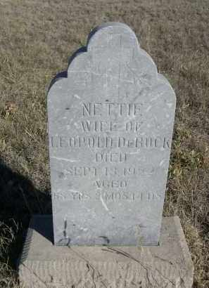 DE BOCK, NETTIE - Sioux County, Nebraska   NETTIE DE BOCK - Nebraska Gravestone Photos
