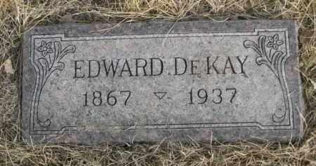 DE KAY, EDWARD - Sioux County, Nebraska   EDWARD DE KAY - Nebraska Gravestone Photos