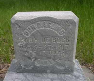 DEBOCK, BABY - Sioux County, Nebraska | BABY DEBOCK - Nebraska Gravestone Photos