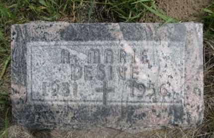 DESIVE, A MARIE - Sioux County, Nebraska | A MARIE DESIVE - Nebraska Gravestone Photos
